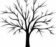 Coloring pages Tree in black