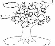 Coloring pages Tree in the clouds