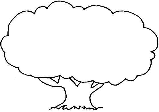 Free coloring and drawings Tree to complete Coloring page