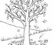 Coloring pages Tree without Cutting Leaves