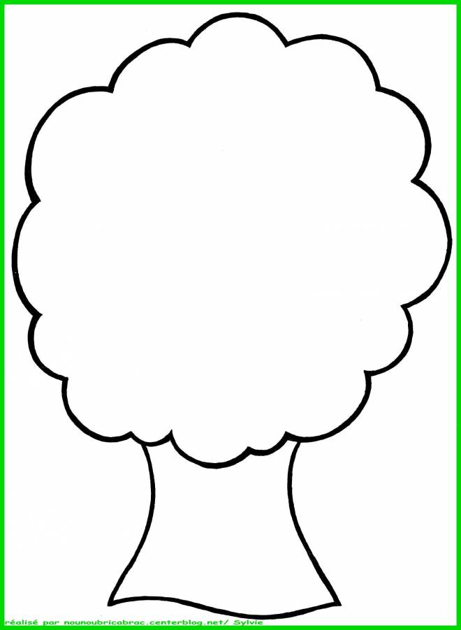 Free coloring and drawings Tree without Fruits Coloring page
