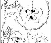 Free coloring and drawings Trees with faces Coloring page