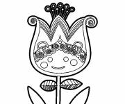 Coloring pages Anti-Stress Tulip