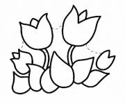 Coloring pages Tulip to be completed
