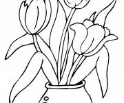 Coloring pages Tulips for Child