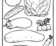 Free coloring and drawings Framed vegetables Coloring page