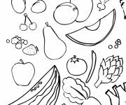 Coloring pages Fruits and Vegetables of July