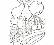 Coloring pages Fruits for the desert