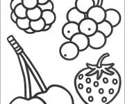Coloring pages Fruits in black and white