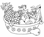 Coloring pages Fruits on the Table