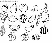 Coloring pages Fruits to decorate