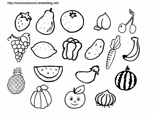 Free coloring and drawings Fruits to decorate Coloring page