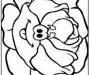 Coloring pages Funny Cabbage Vegetable