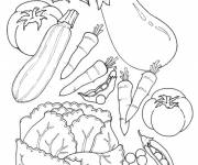 Coloring pages Garden vegetables