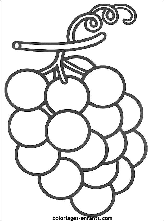 Free coloring and drawings Grape Fruit Coloring page