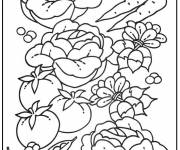Coloring pages Healthy vegetables