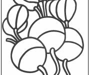 Coloring pages Healthy vegetables to decorate