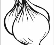 Coloring pages Onion Vegetable in black