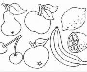 Coloring pages Spring Fruits