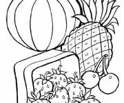 Coloring pages Spring Vegetables and Fruits