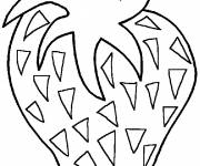 Coloring pages Strawberry Fruit to print