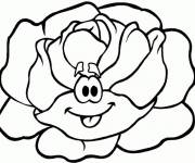 Coloring pages The smiling Cabbage