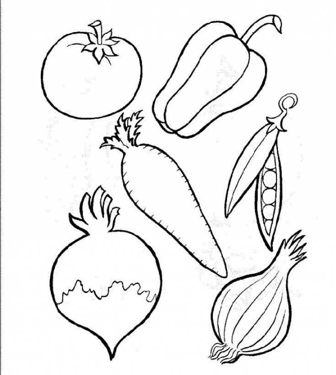Free coloring and drawings Vegetables for Recipe Coloring page