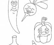Coloring pages Vegetables in a good mood