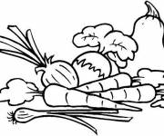 Coloring pages Vegetables in the kitchen