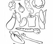 Coloring pages Vegetables to decorate