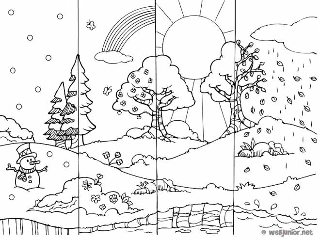 Free coloring and drawings Autumn season Coloring page