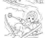 Coloring pages Children Ski