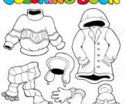 Coloring pages Clothes to color and cut out