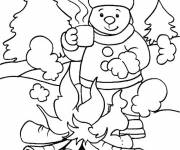 Coloring pages Cold winter season