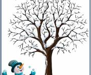 Coloring pages Colored winter