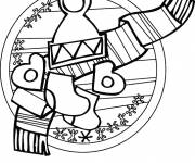 Coloring pages Easy cold winter