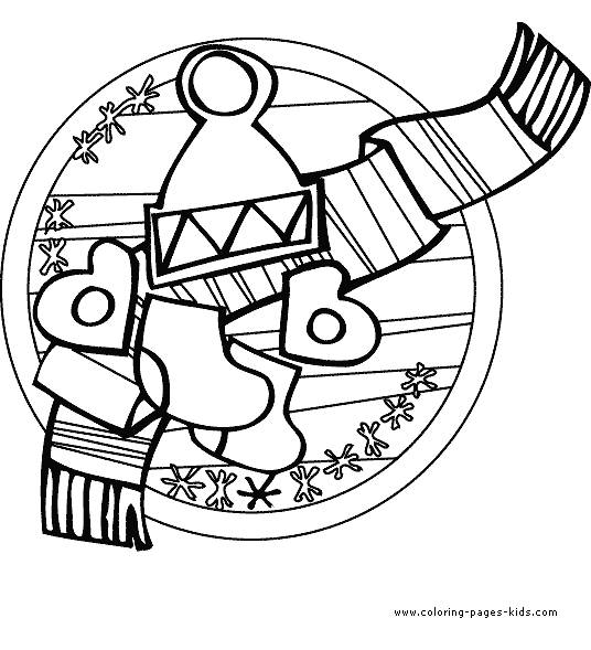 Free coloring and drawings Easy cold winter Coloring page
