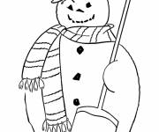 Coloring pages Halloween Snowman
