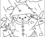 Coloring pages Little Child in the Rain