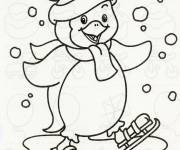 Coloring pages Maternal Winter