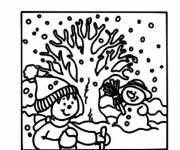 Coloring pages Maternal winter season