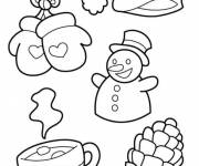 Coloring pages Maternal winter season for decoration