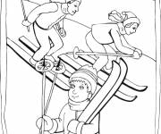 Coloring pages Sport in Winter