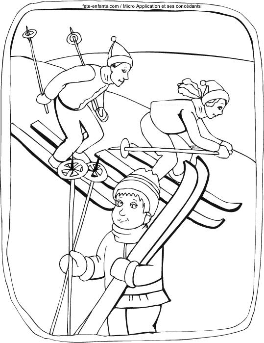 Free coloring and drawings Sport in Winter Coloring page