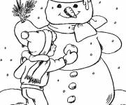 Coloring pages Stylized winter season