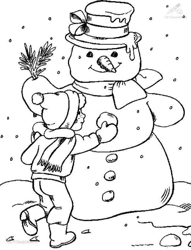 Free coloring and drawings Stylized winter season Coloring page