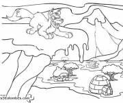 Coloring pages The Bad Wolf in Winter
