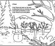 Coloring pages The Winter Season to download