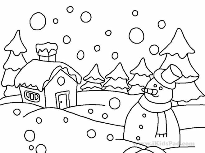 Free coloring and drawings Winter Adult Coloring page