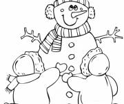 Coloring pages Winter and Snow